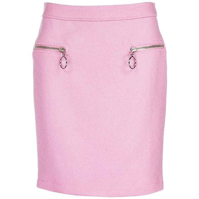 0d00d4609 Moschino Minifalda de Mujer Falda Corta Rosa EU 42 (UK 10 ...