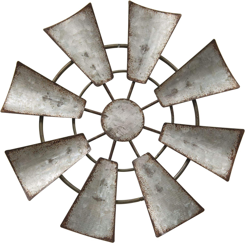 Kruenpeeper Creek CWI Gifts Galvanized Metal Hanging Windmill, 7