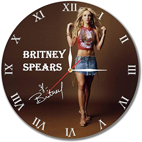 mV Britney Spears 11.8 Handmade Wall Clock – Get Unique d cor Home Office Best Gift Ideas Kids, Friends, Parents Your Soul Mates