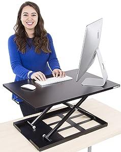 Stand Steady Standing Desk X-Elite Standing Desk | X-Elite Pro Version, Instantly Convert Any Desk into a Sit/Stand up Desk, Height-Adjustable, Fully Assembled Desk Converter (Black)