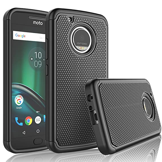 premium selection d5a0b ff5d4 Moto G5 Plus Case, Moto G5 Plus Hard Case, Tekcoo [Tmajor] Shock Absorbing  Rubber Plastic [Black] Scratch Resistant Defender Bumper Rugged Grip Hard  ...