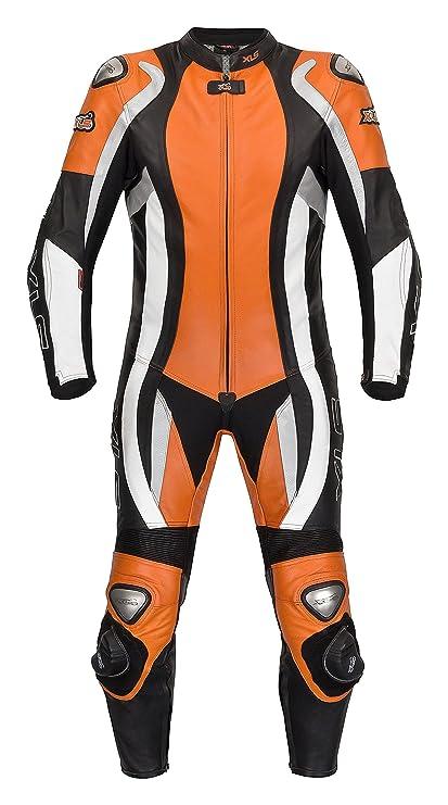 XLS Mono de piel combinado, naranja, tallas 48 50 52 54 56 ...