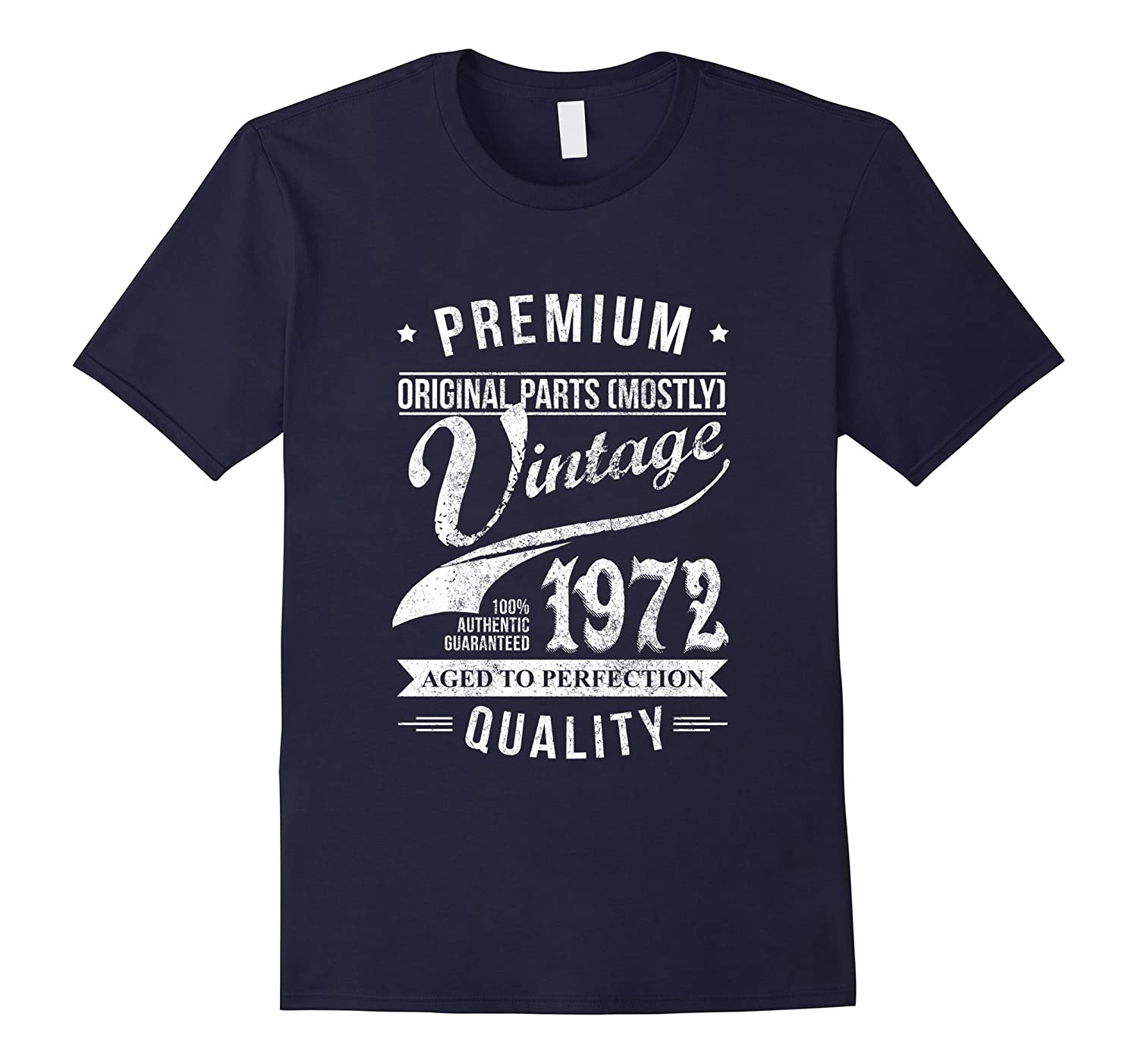 Vintage 1972 T-Shirt Cool Birthday Gift For 45 Years old-TD