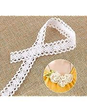 15M Vintage Style Cotton Crochet Lace Edge Trim White Ribbon DIY Sewing Crafts wedding decoration scrapbooking gift box