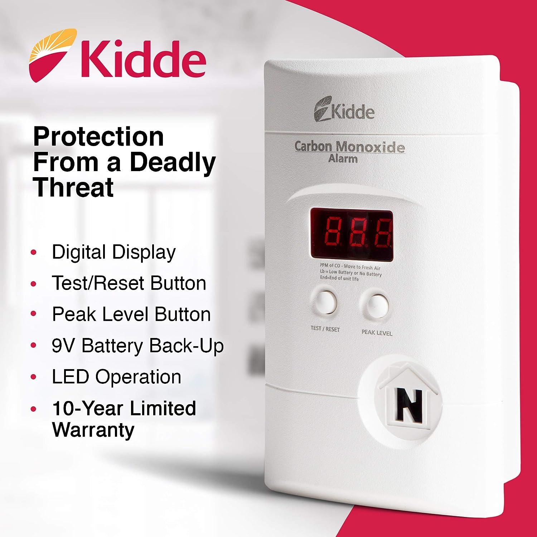 Nighthawk Plug-in AC//DC Carbon Monoxide Alarm Detector with Digital Display KN-Copp-3