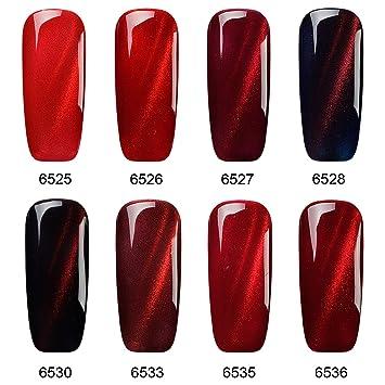 Vrenmol Soak Off UV LED Magnetic 3D Red Flame Cat Eye Nail Gel Polish 8 Colors