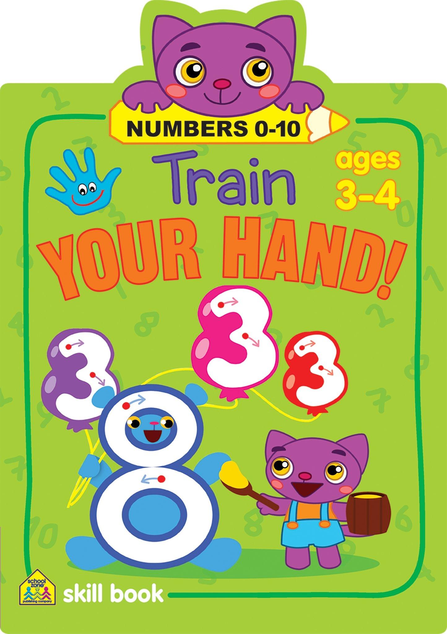 Train Your Hand - Numbers: Flintas Publishing, School Zone Staff ...