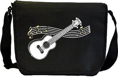 Sheet Music /& Accessory Messenger Bag MusicaliTee Ukulele Curved Stave