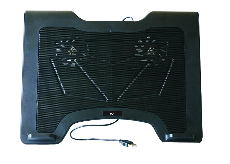 Ewent EW1255 Base de refrigeración para ordenador portátil de 12 a 15.6 pulgadas, 2 ventiladores, color negro: Amazon.es: Informática