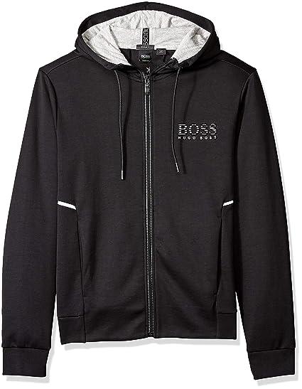 NA Men Mens Hugo Boss Fashion Black Hooded Sweatshirt