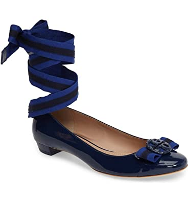 1934b6556d369f Tory Burch Maritime Ankle Wrap Ballets Shoes Soft Patent Calf (6.5)