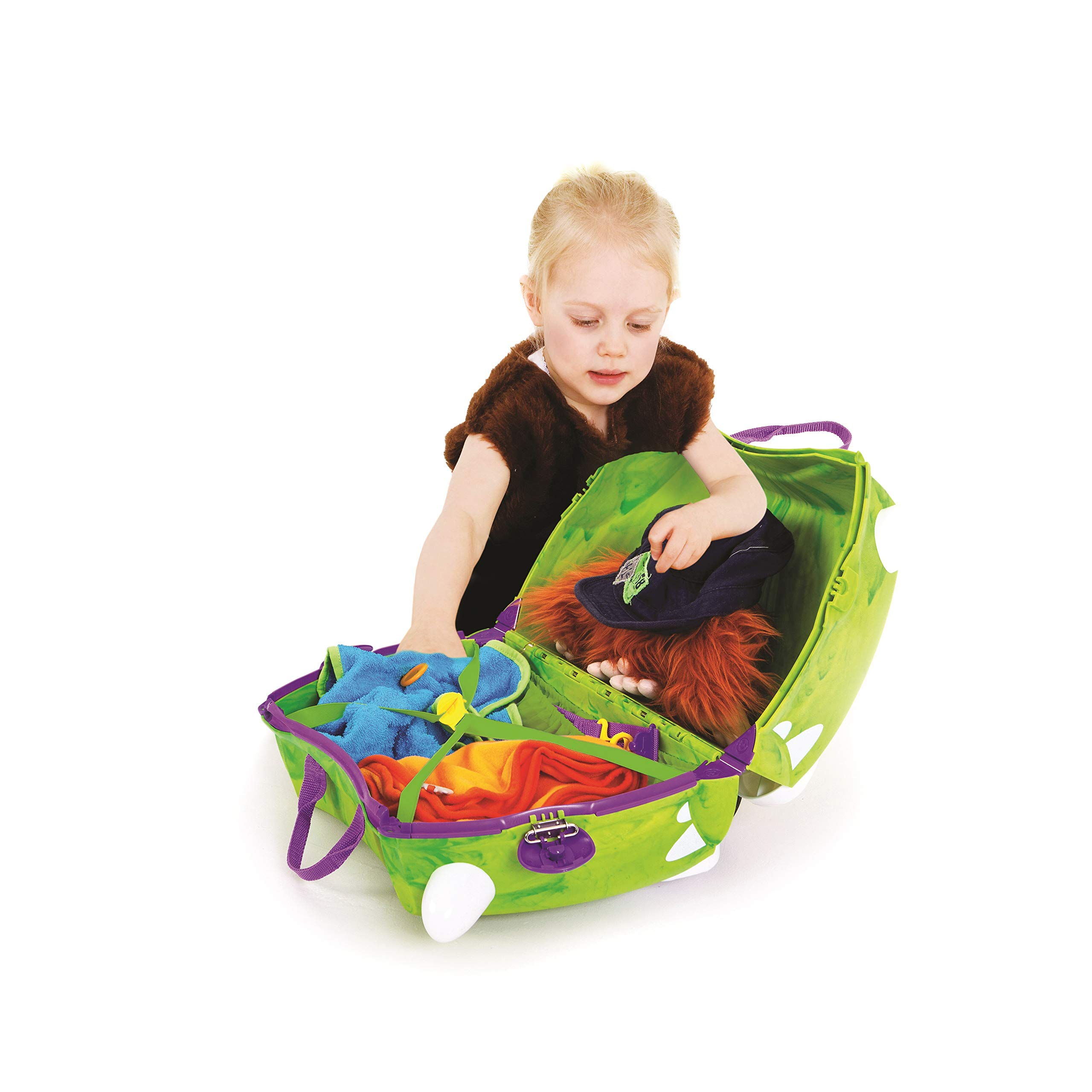 Trunki Original Kids Ride-On Suitcase and Carry-On Luggage - Trunkisauras Rex (Green) by Trunki (Image #8)