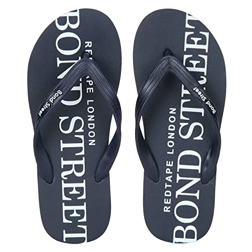 b04f2eff6 Bond Street by (Red Tape) Men s BFF0144 Blue and White Flip-Flops-8 ...