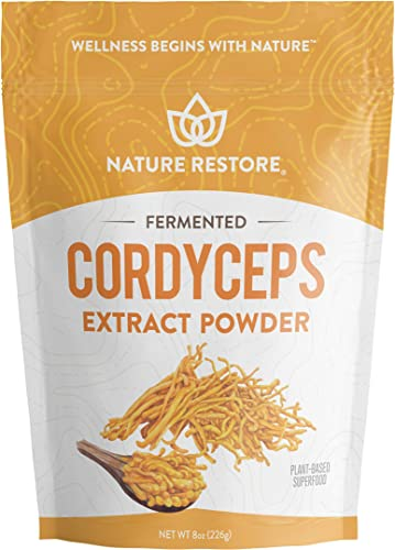 Cordyceps Sinensis Mushroom Powder, 8 Ounce, Liquid Mycelium Fermentated, Authenticated CS4, Standardized to 10 Percent Cordycepic Acid, Vegan, Non GMO