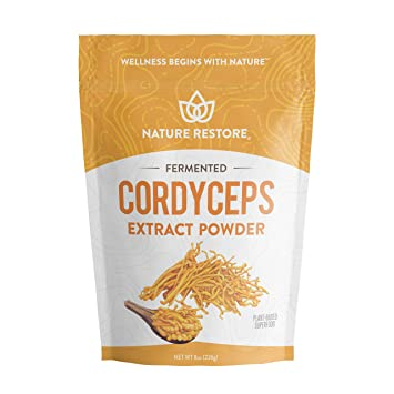 Cordyceps Sinensis Mushroom Powder, Mycelium Liquid Fermentation Process, NOT Grown on Rice, (