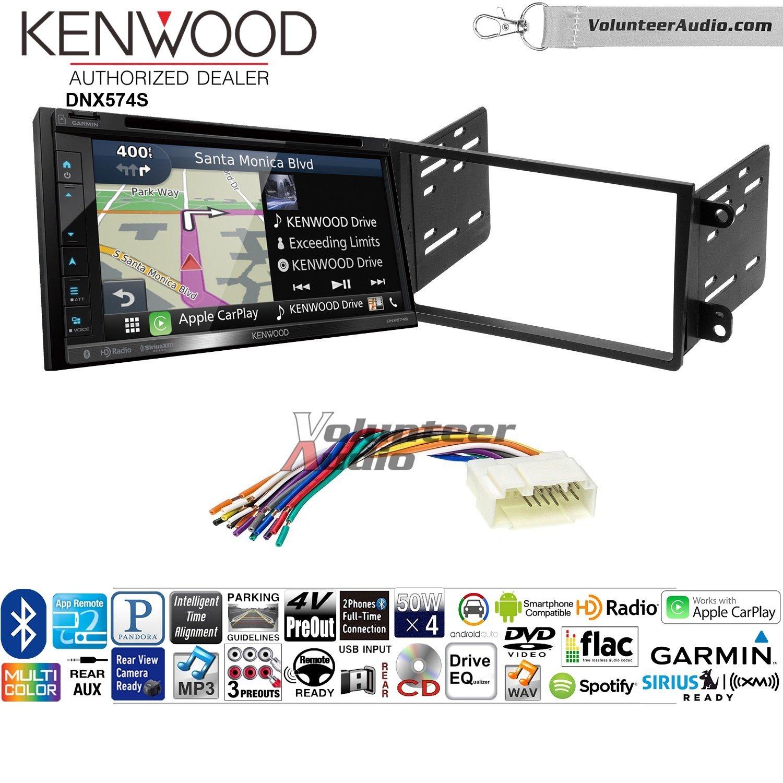 ボランティアオーディオKenwood dnx574sダブルDINラジオインストールキットwith GPSナビゲーションApple CarPlay Android自動Fits 2003 – 2008 Honda Pilot B07C1YY8GJ