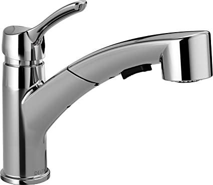 Delta 4140-DST Collins Single-Handle Pull-Out Kitchen Faucet with ...