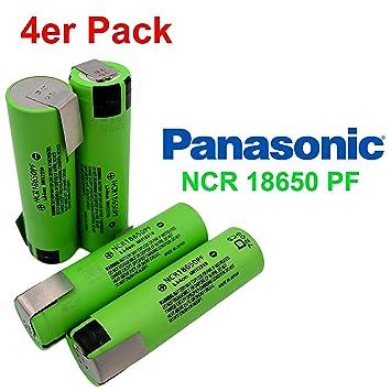 Panasonic NCR18650PF batería con 2900 mAh y Z de soldadura – Ideal para E-Bike