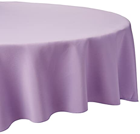 LinenTablecloth 90 Inch Round Polyester Tablecloth Lavender