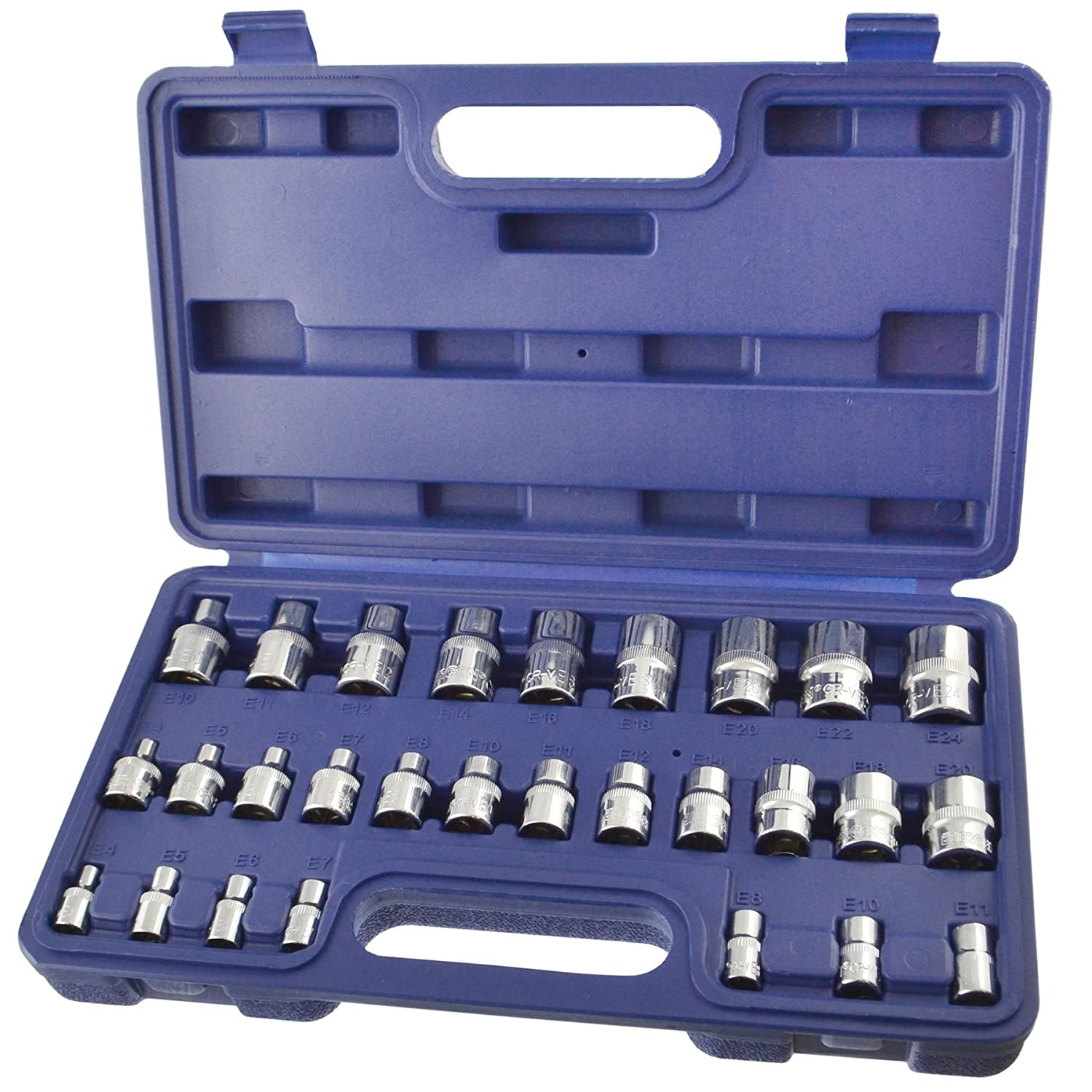 Female Star / Torx Sockets 1/4' / 3/8' And 1/2' Drive E4 - E24 By BERGEN AT210 AB Tools