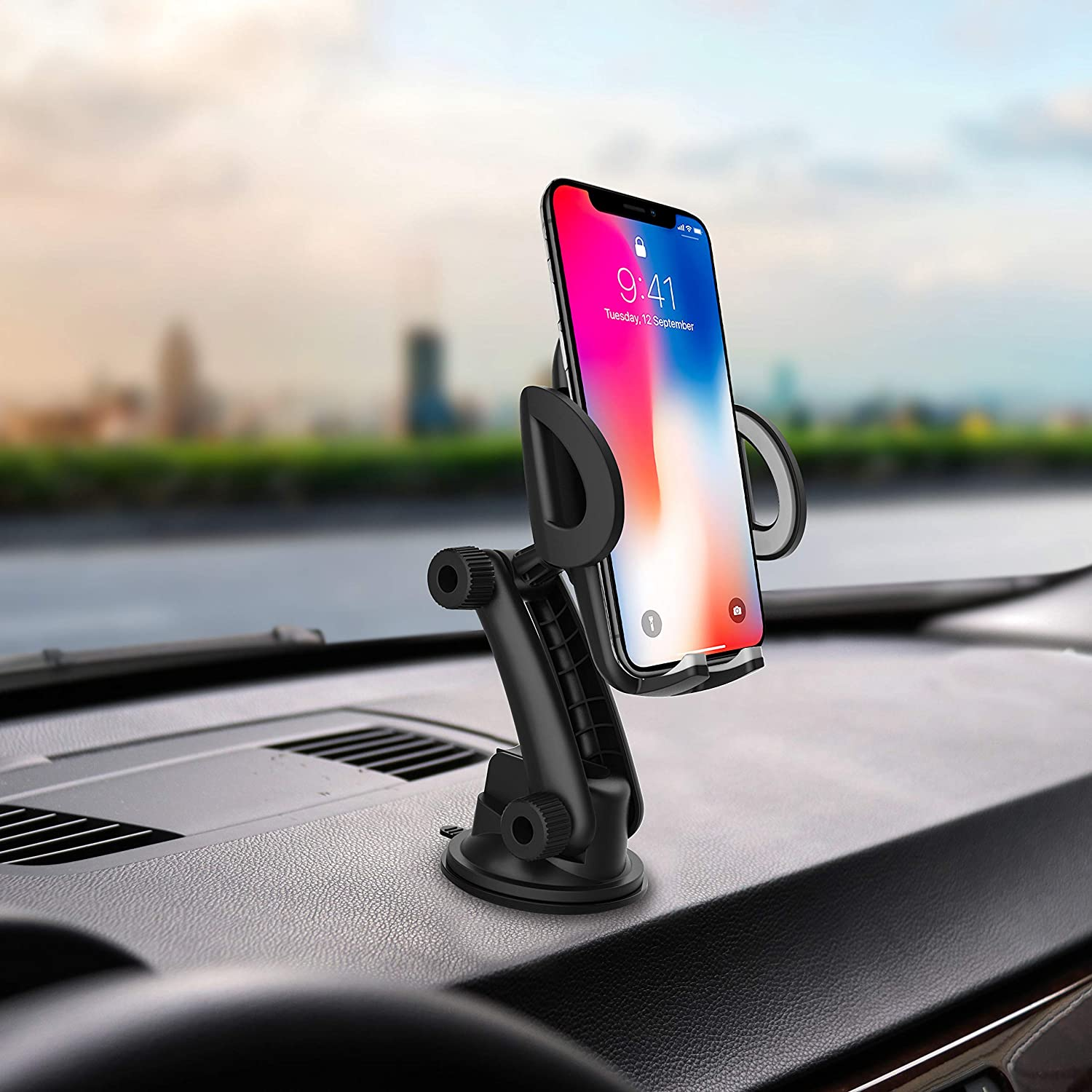 Universal Car Phone Mount/&Car Phone Holder,Fitting for All Phone and case Combinations from 50mm-95mm Width A Good Choice