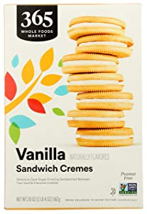 365 by Whole Foods Market, Cookies, Vanilla Sandwich Cremes, 20 Ounce