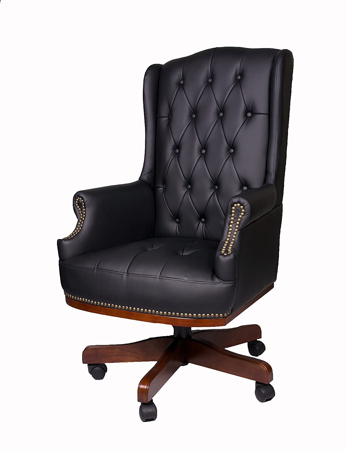 LUXURY MANAGERS DIRECTORS CHESTERFIELD ANTIQUE CAPTAIN STYLE PU LEATHER  OFFICE DESK CHAIR FURNITURE: Amazon.co.uk: Kitchen & Home - LUXURY MANAGERS DIRECTORS CHESTERFIELD ANTIQUE CAPTAIN STYLE PU