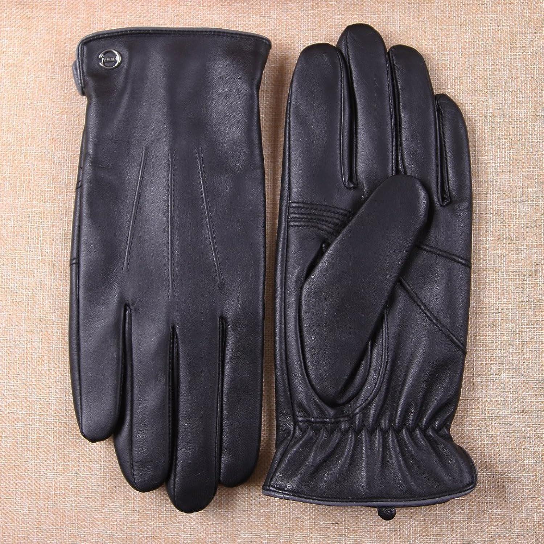 Mens leather touchscreen gloves uk - Luxury Men S Touchscreen Texting Winter Italian Nappa Leather Dress Driving Gloves Cashmere Wool Fleece Lining 8 Us Standard Size Black Fleece