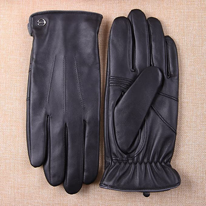 ELMA Luxury Winter Leather Driving Gloves