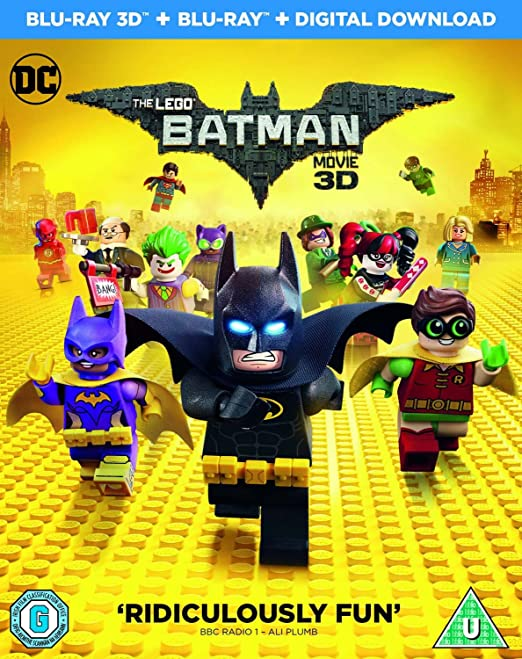 Amazon Com The Lego Batman Movie Blu Ray 3d Blu Ray Digital Download 2017 Movies Tv