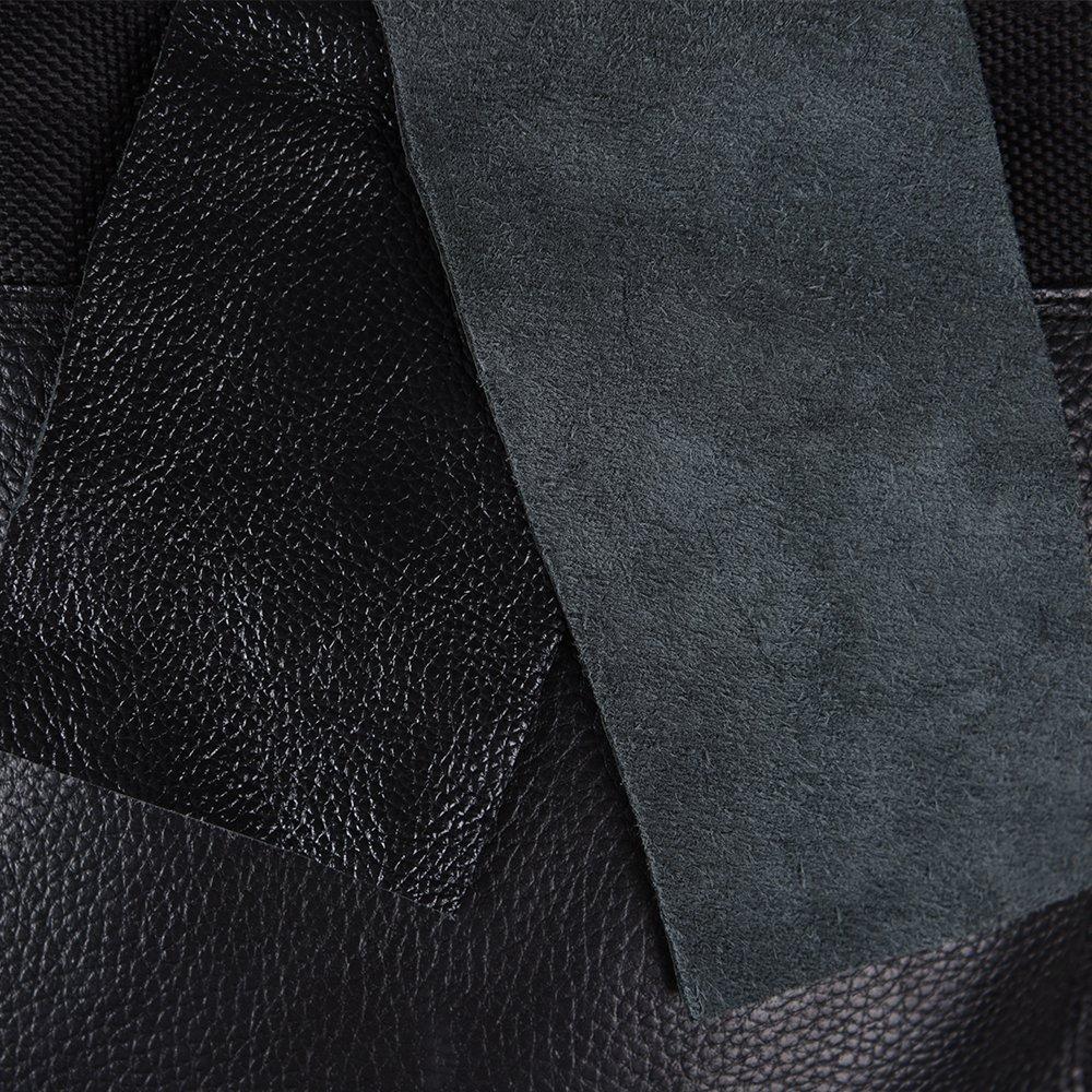 Real piel de vaca, 2-section Negro Canvas Punching wallbag para Wing Chun mandril de pu/ño pr/áctica diferentes estilo Opci/ón bcr002