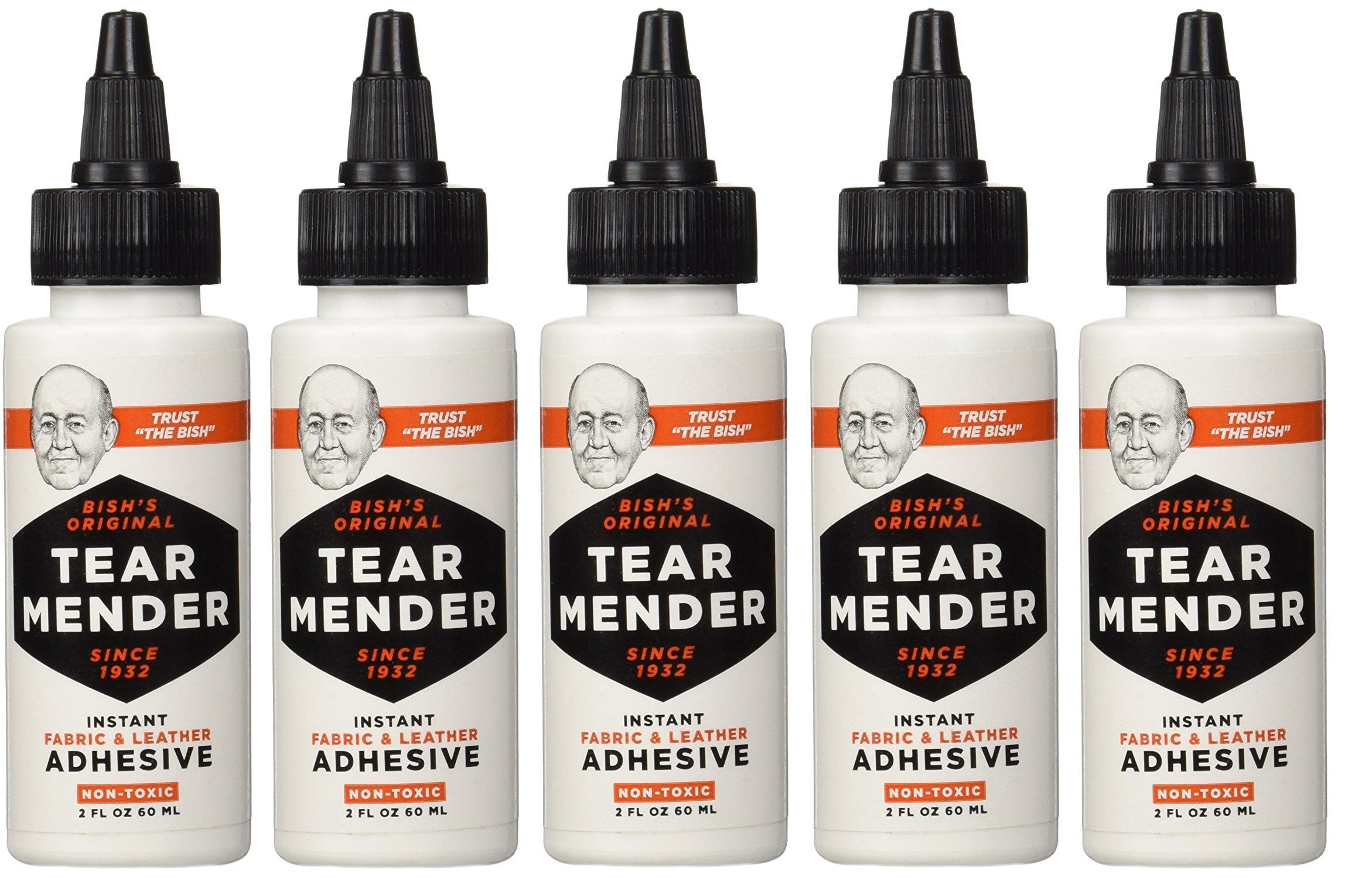 Tear Mender TG-2 Bishs vcgCQr Original Tear Mender Instant Fabric and Leather Adhesive, 2 oz (Pack of 5) by Tear Mender