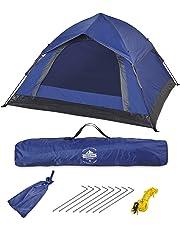 Lumaland Outdoor leichtes Pop Up Wurfzelt 3 Personen Zelt Camping Festival 210 x 190 x 110 cm