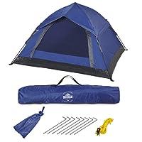 Lumaland Outdoor leichtes Pop Up Wurfzelt 3 Personen Zelt Camping Festival 210 x 190 x 110 cm verschiedene Farben