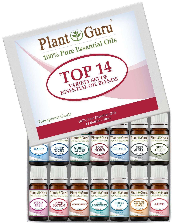【高い素材】 Premium Essential Oil Grade Pure Synergy Blends Variety Set - 14 Perfectly Pack - 100% Pure Therapeutic Grade 10 ml. Set Includes 14/10 ml. Perfectly Blended Synergy Oils. by Plant Guru B0166WZGYU, 明りと香り本舗:490b9b51 --- xn--paiius-k2a.lt