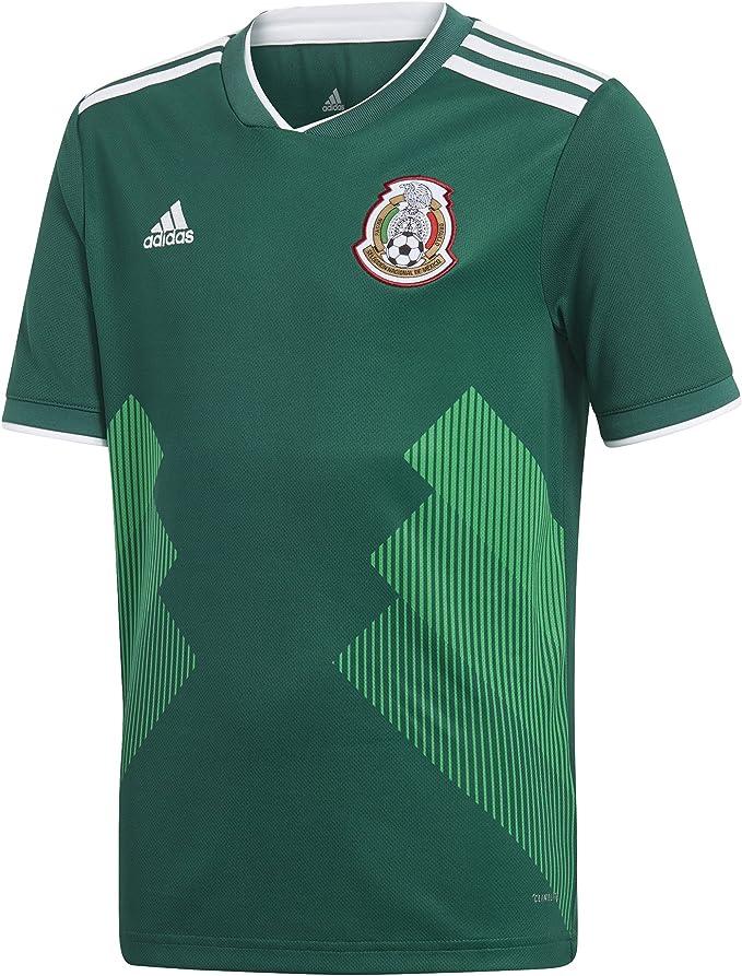 adidas México Copa Mundial Juvenil Jersey de fútbol de la casa (BQ4696) - BQ4696, MLS/Fútbol, M, Verde/Blanco: Amazon.es: Ropa y accesorios