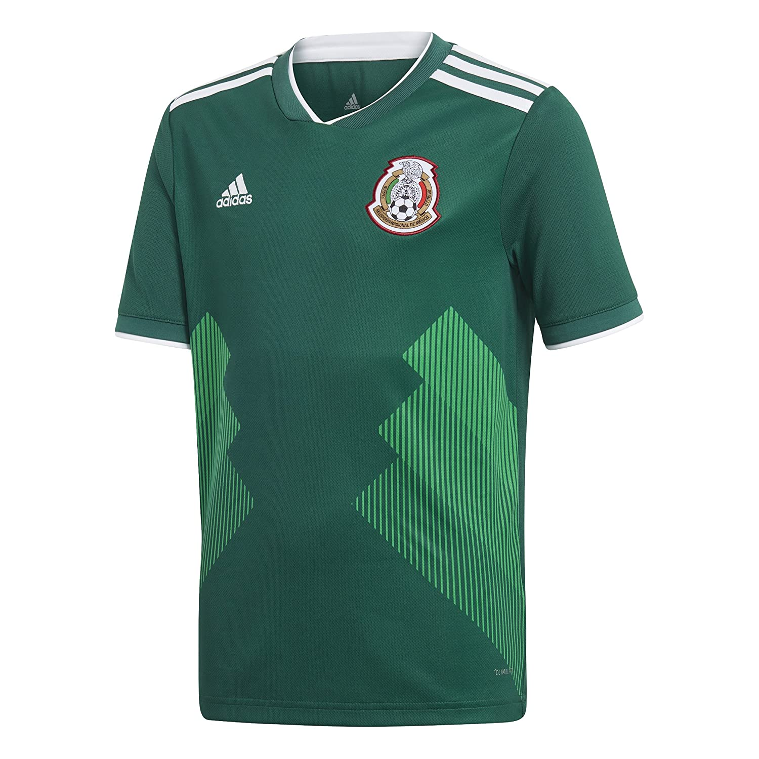 3254abe92 Amazon.com : adidas Youth Mexico 2018 Home Replica Jersey : Sports &  Outdoors