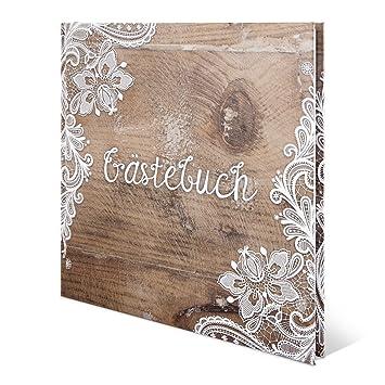 Hochzeit Gastebuch Hardcover Rustikal 210 X 210 Mm 144 Seiten