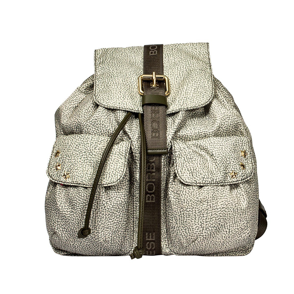 dc4095ae5a BORBONESE WOMEN'S 934836296E49 GREEN POLYESTER BACKPACK: Amazon.co.uk:  Clothing