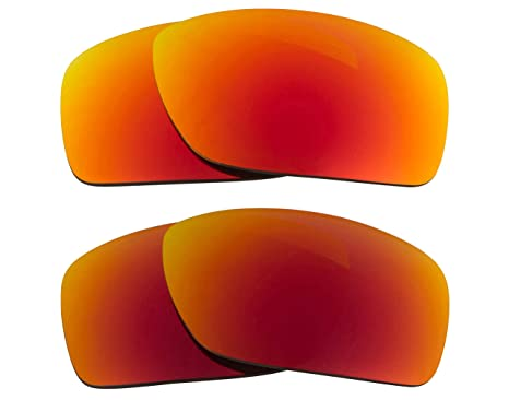 85230ae6996 Image Unavailable. Image not available for. Color  Fast Jacket XL  Replacement Lenses Polarized Red   Yellow by SEEK fits OAKLEY