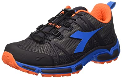Diadora Unisex-Erwachsene Trail Race Trainingsschuhe, Multicolore (Dk Smoke/Azzurro Sogno), 43 EU