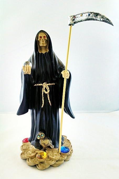 10 5 Inch Statue of La Santa Muerte Negra Holy Death Grim