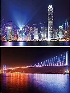 Großstadthimmel Poster Hongkong 140 x 100 cm