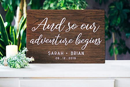 CELYCASY and So Our Adventure Begins - Cartel de Boda de ...