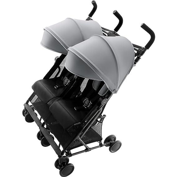 Britax Holiday Double - Silla de paseo gemelar, color Steel Grey: Amazon.es: Bebé