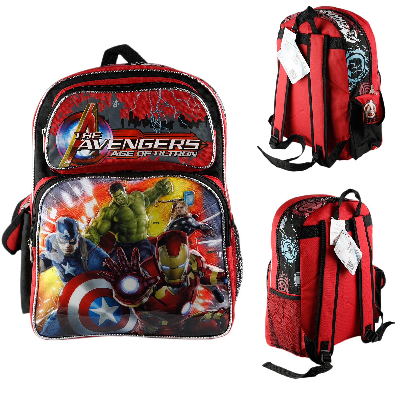 Brand New Marvel Avengers Age of Ultron 14'' Medium School Backpack Boys Book Bag