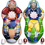 ImpiriLux Inflatable 5 Foot Tall Double Sided Football Receiver and Baseball Catcher Target Trainer Set | Includes One Inflat