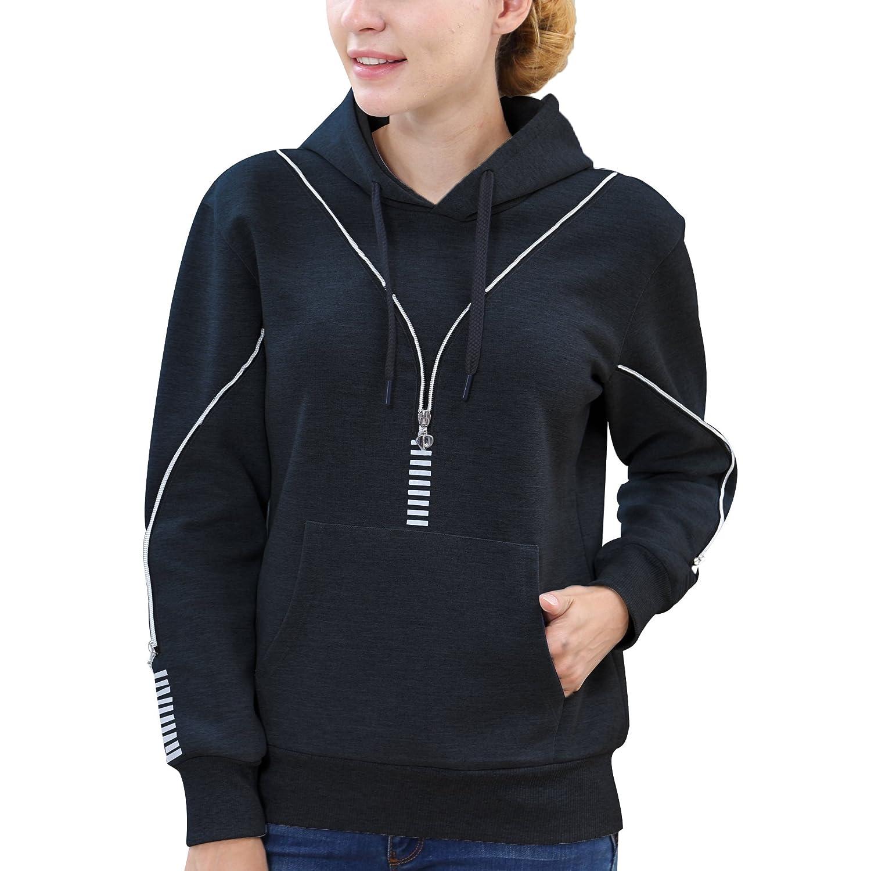 Black2 BELE ROY Womens Warm Winter Jacket Active Outdoor FullZip Coat Fleece Lined