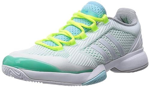 half off 45c51 8b718 Adidas Stella McCartney Barricade Zapatilla de Tenis Señora, Blanco Verde,  42  Amazon.es  Zapatos y complementos
