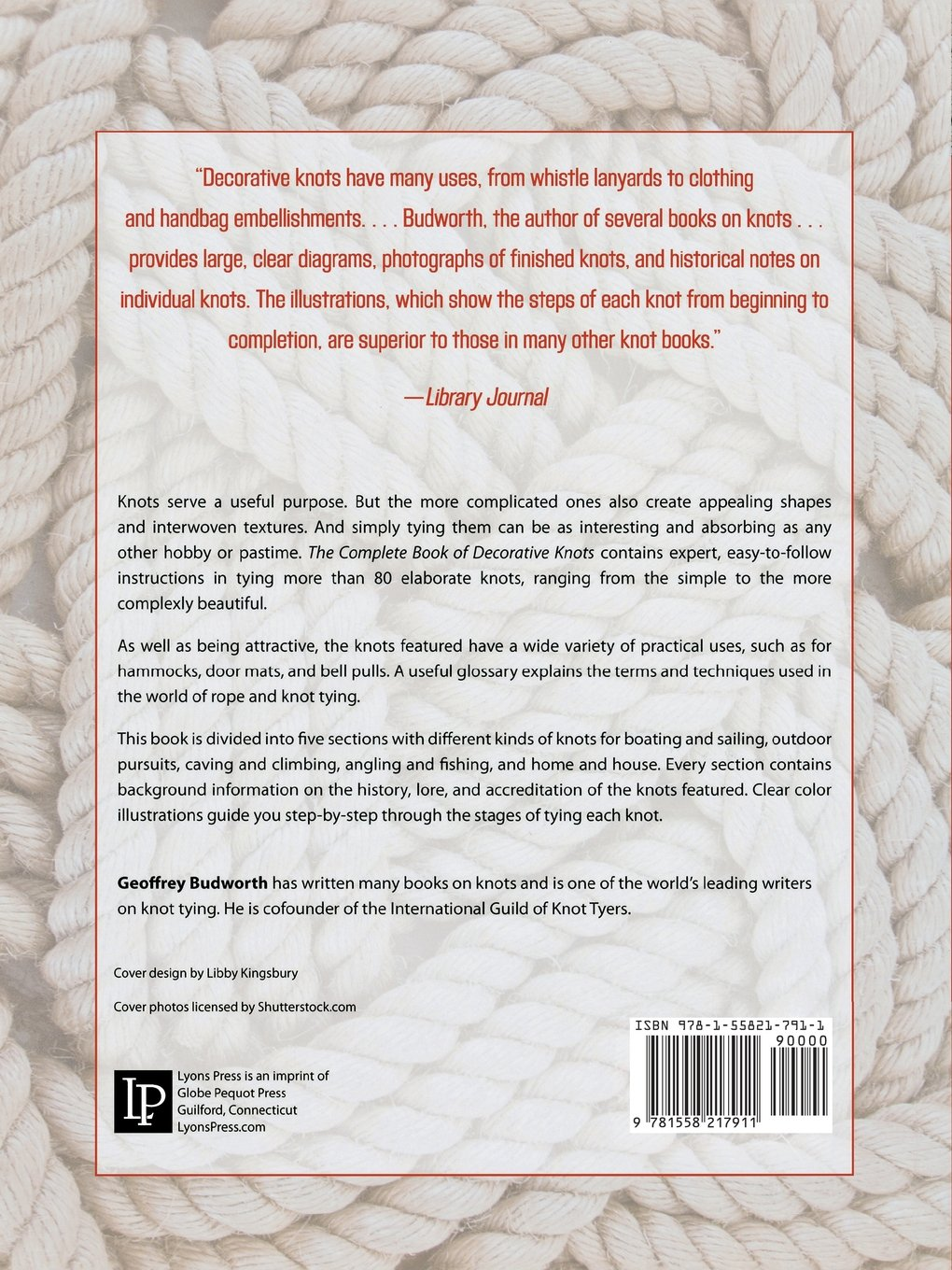 Complete Book Of Decorative Knots Geoffrey Budworth 9781558217911 Bowline Knot Diagram How To Tie A In Less Than 5 Seconds Books